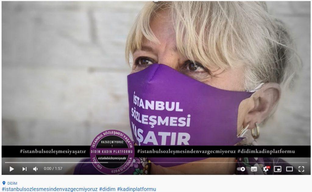 """Didimli Kadınlar, 4 dilde """"İstanbul Sözleşmesi'nden Vazgeçmiyoruz"""""""