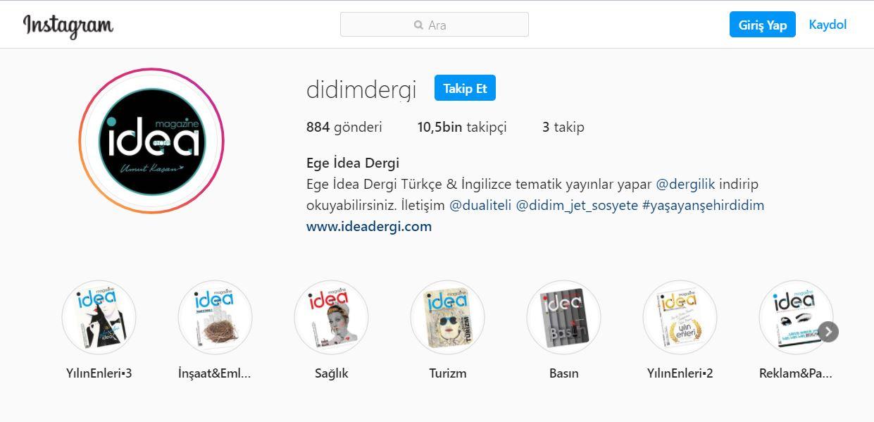Didim'in Türkçe - İngilizce Dergisi Ege İdea Dergi'yi Turkcell Dergilik App tan indirip okuyabilirsiniz.